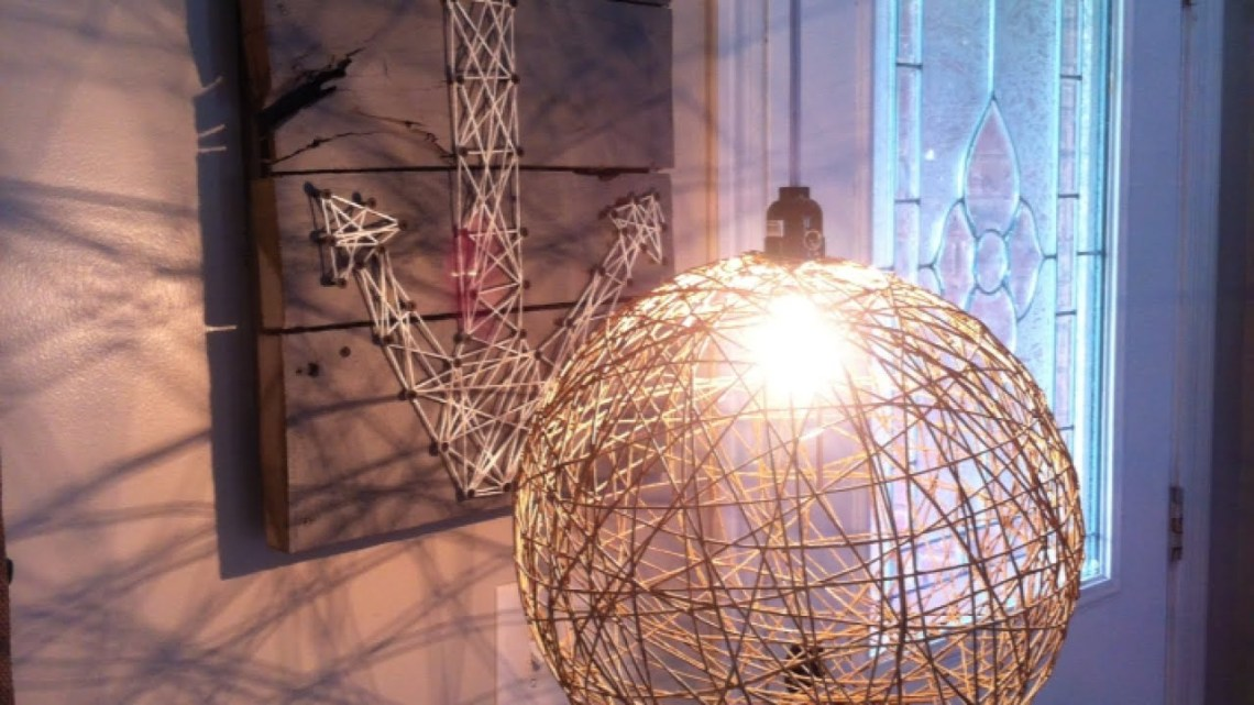 How To Create A Diy Hemp Hanging Light Diy Home Tutorial