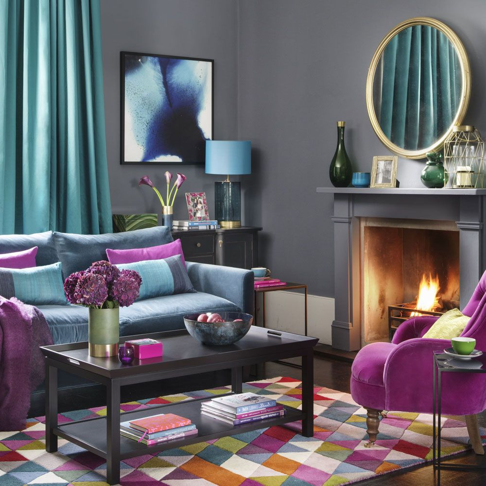 How To Decorate Your Home With Jewel Tones Living Room