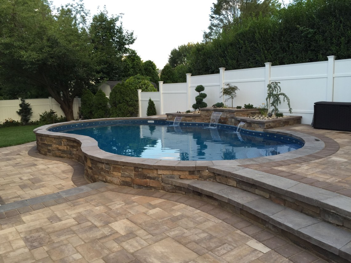 Ideas Semi Inground Pool Ideas For Exciting Backyard