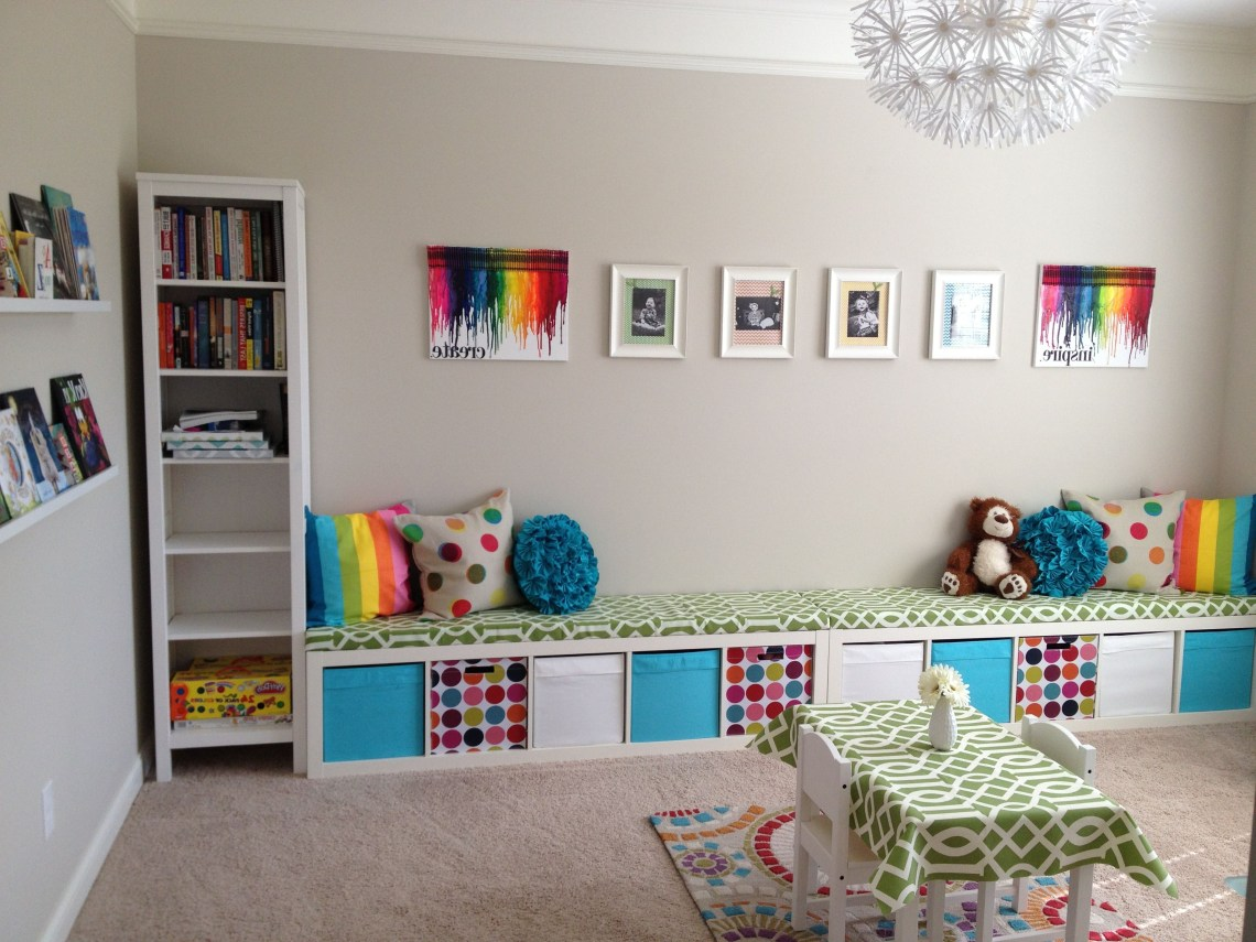 Ikea Expedit Playroom Storage Bench Two Together To Go