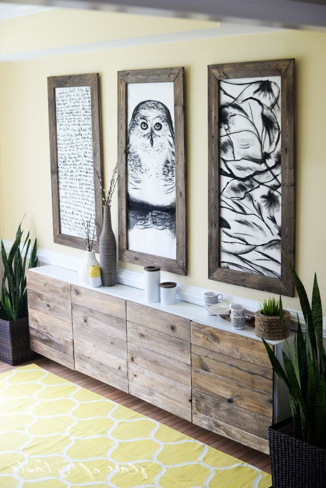 Ikea Hacks Diy Reclaimed Wood Buffet Diy Furniture