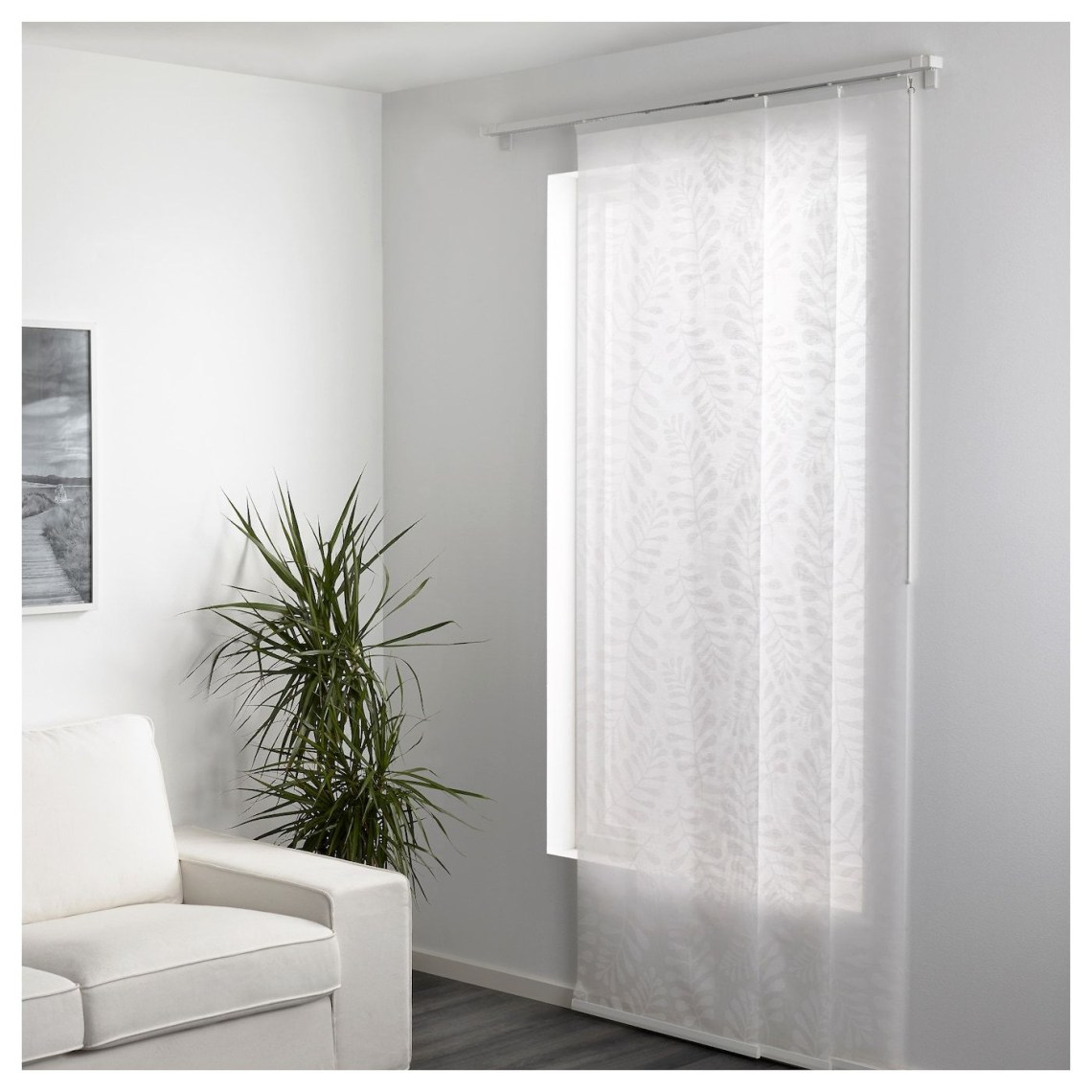Ikea Yrla White White Panel Curtain White Paneling