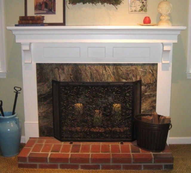Images White Fireplace Mantels With Corbels Stunning