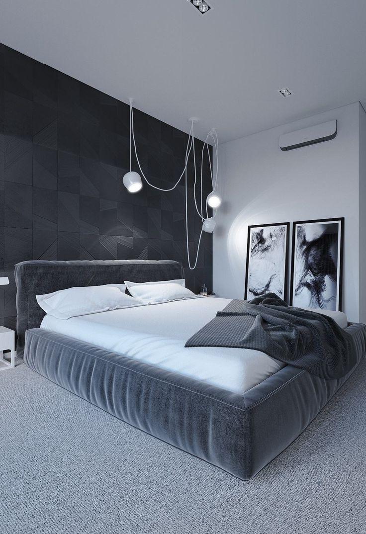 Imagine Sleeping In This Minimalist Black White Gray