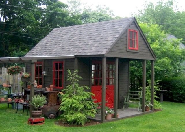 Incredible Backyard Retreat Shed Makeover Design Ideas 01