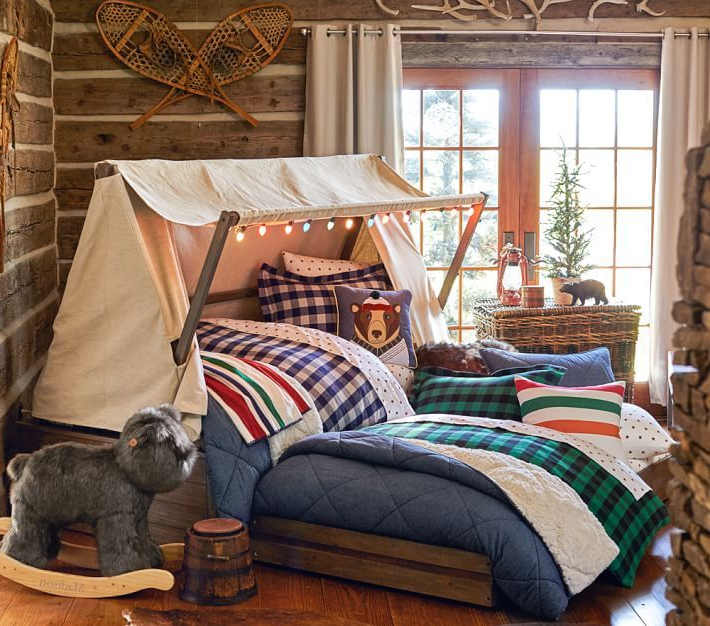 Kids Cabin Theme Bedrooms Rustic Decor Bedroom Themes