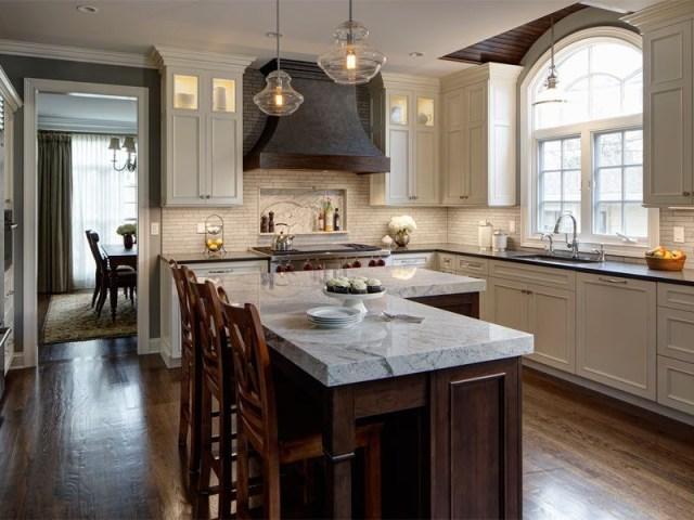L Shaped Kitchen Island Drury Designs Transitional