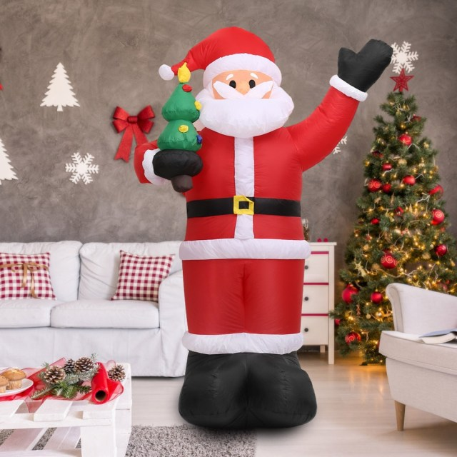 Large Inflatable Christmas Santa Claus 2018 Happy