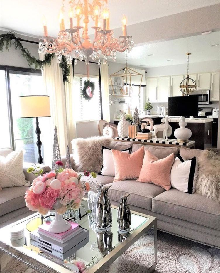 Loving The Pink White And Grey Color Scheme House Craze