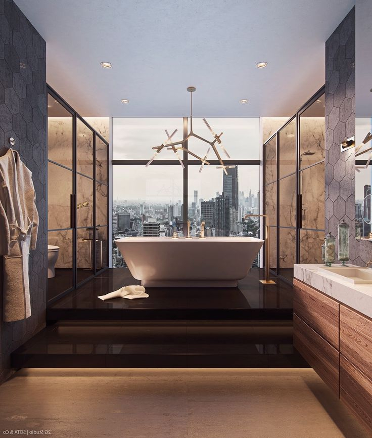 Luxurious Inspiring Penthouses Luxury Master Bathrooms