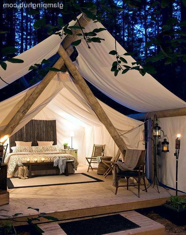 Luxury Canvas Cabins Washington Canvas Tent Rental