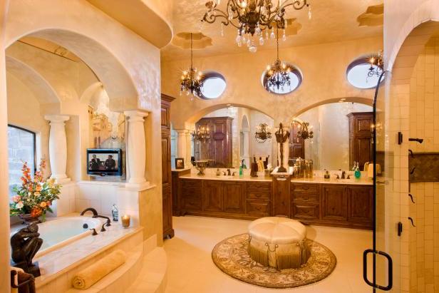 Luxury Master Bath With Mediterranean Touches Hgtv