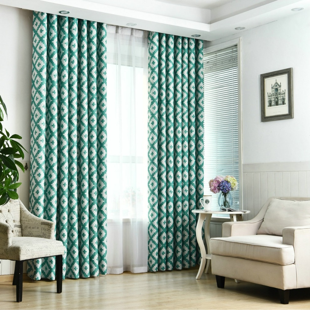 Luxury Modern Style Blackout Curtain For Living Room