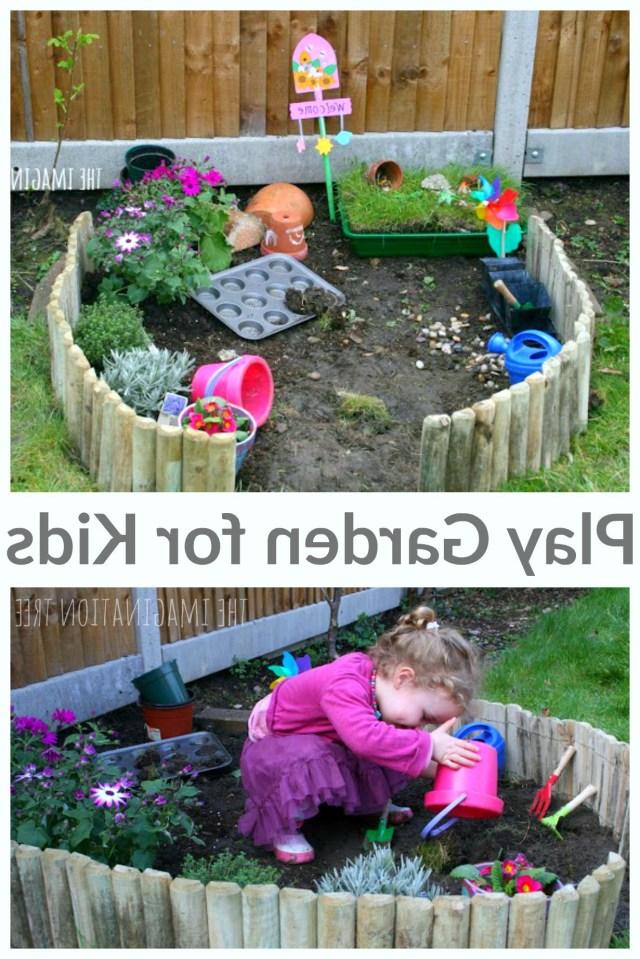 Making A Play Garden Kids Outdoor Play Backyard Play
