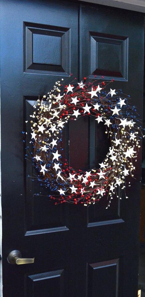 Memorial Day Wreath Fourth Of July Wreath Americana