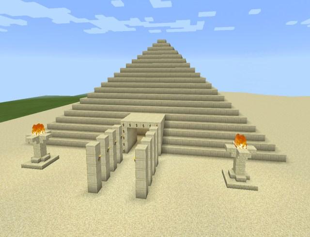 Minecraft Sand Egyptian Fire Pyramid Minecraft Designs