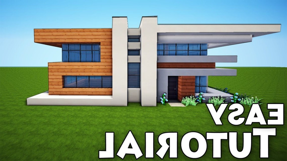 Minecraft Small Easy Modern House Tutorial How To Build A House Minecraft Modern