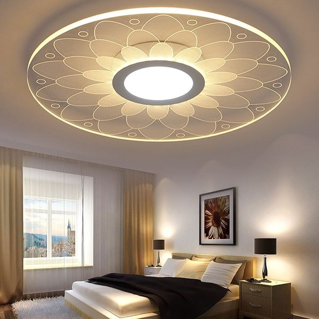 Modern Ceiling Led Flower Ceiling Lights Beautiful Living