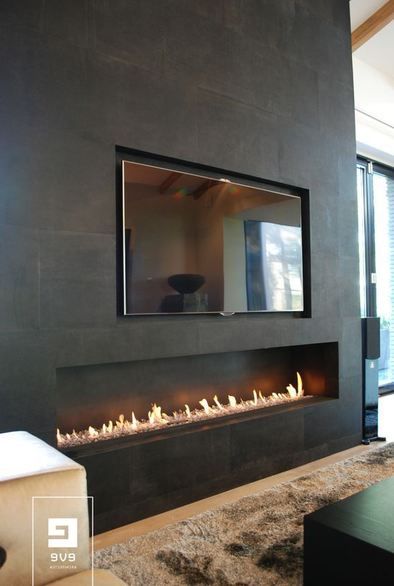 Modern Fireplace Designs With Glass For The Contemporary