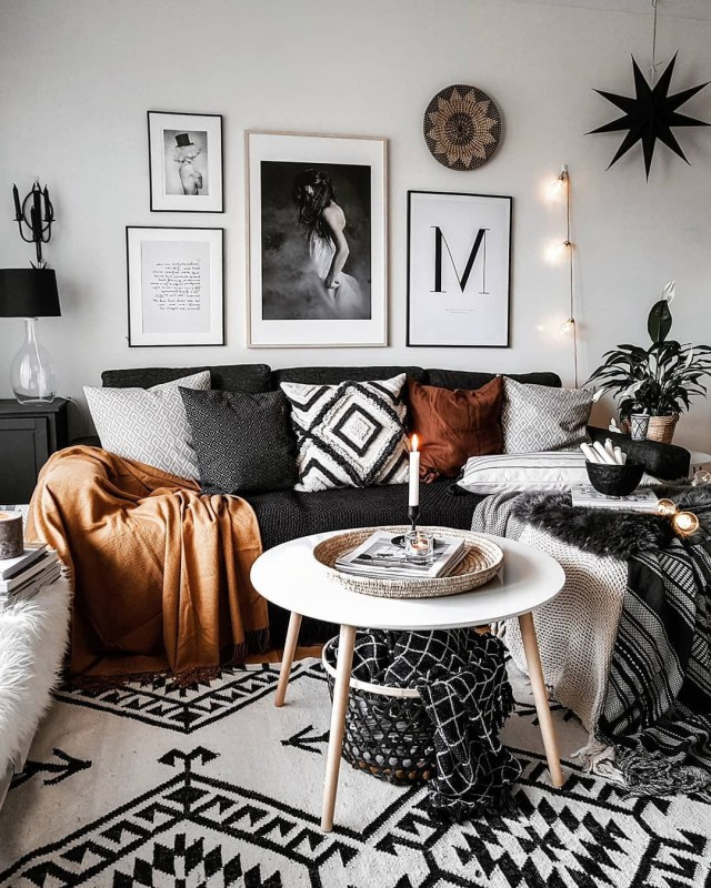 Monochrome Bohemian Scandi On Instagram Boho Home In