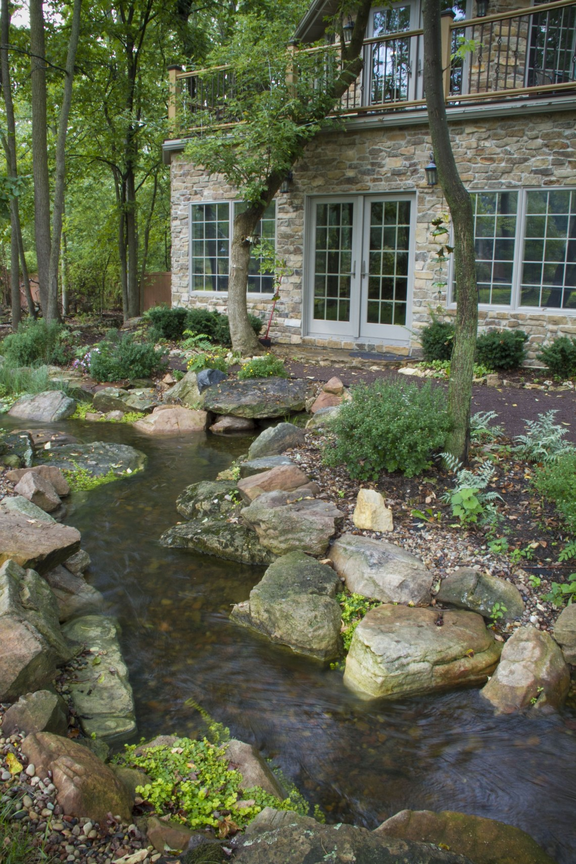 Natural Looking Winding Stream In Northwest Indiana