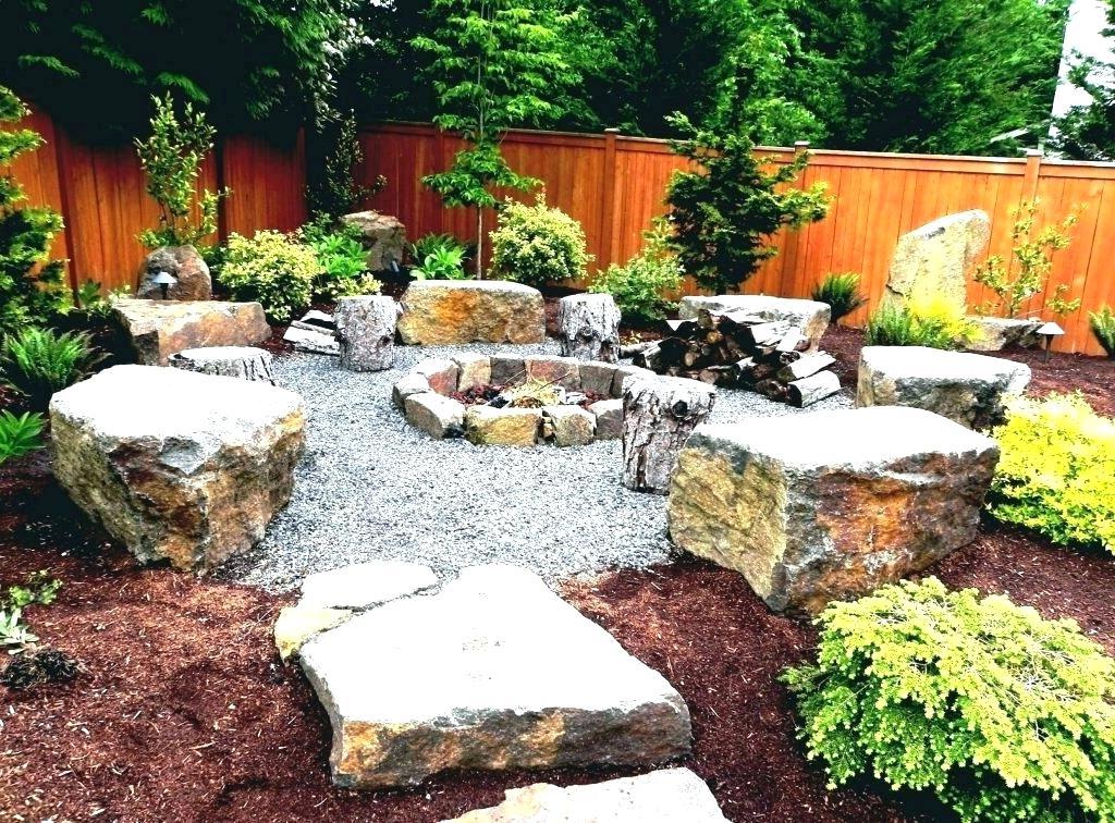 Natural Stone Fire Pit Designs Patio Ideas Outdoor Design