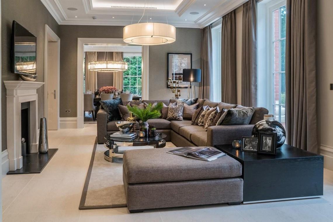 Neo Georgian Style English Estate Interior Design Classic Living Room Luxury Homes Interior