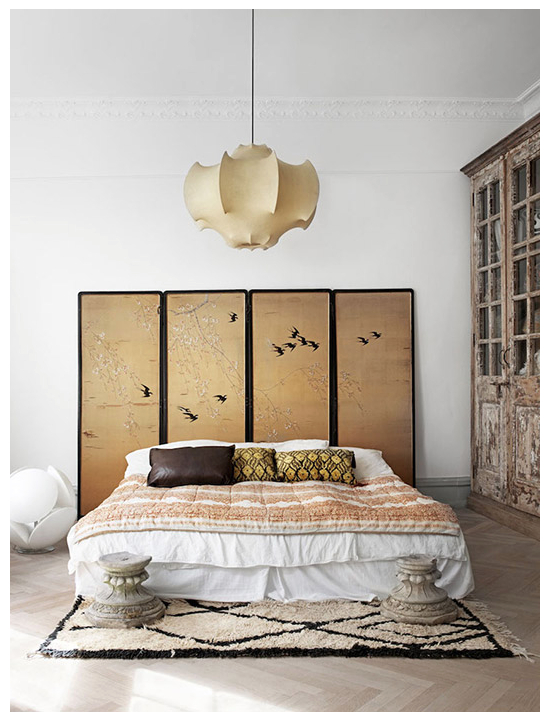 Neutral Japanese Esque Bedroom Love The Ceiling Light