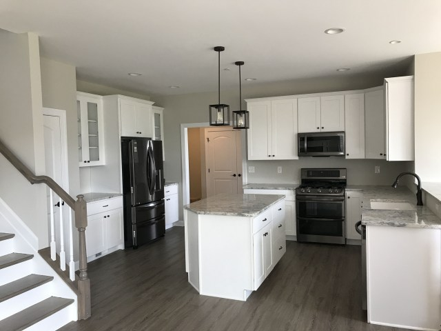 New Kitchen With White Ice Granite Wolf Cabinets Lg