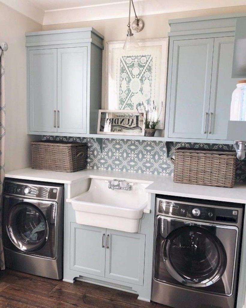 Nice 31 Fabulous Modern Farmhouse Laundry Room Design