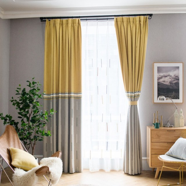 Nordic Modern Blackout Curtains For Window Treatment