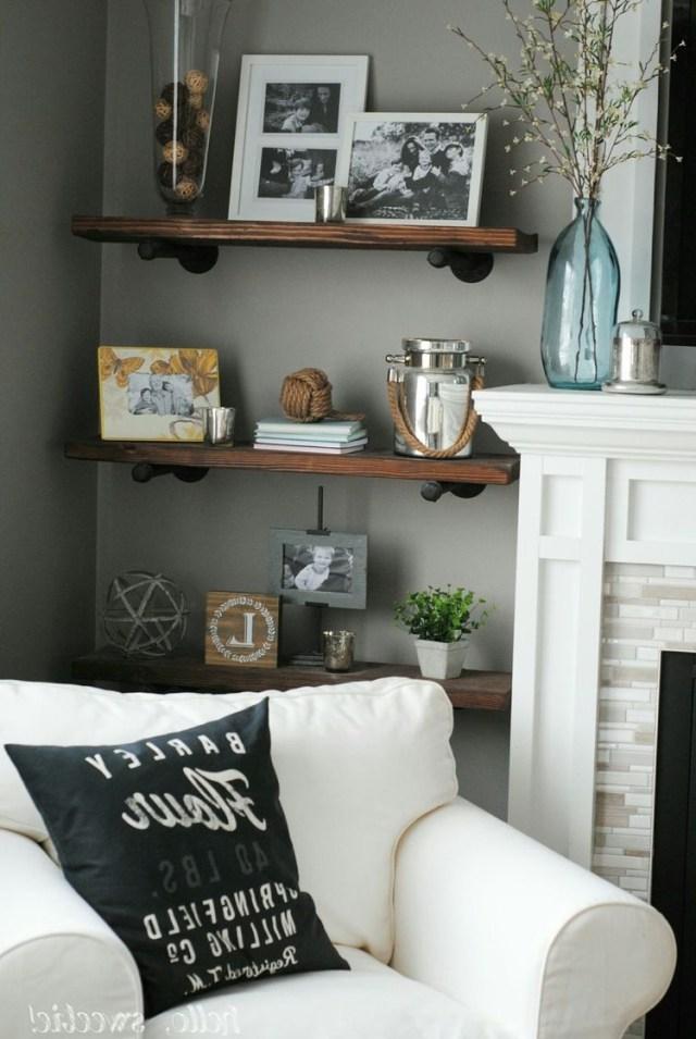 Our Complete Basement Renovation Living Room Shelves