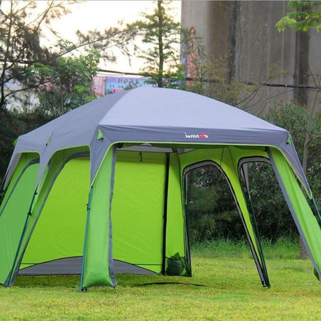 Outdoor Camping Tent 5 8 Persons Large Camp Sun Tents Camping Family Beach Travel Tent Two Room
