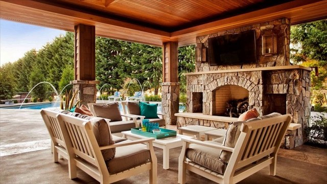 Outdoor Patio Fireplace Ideas Designs For Backyard Youtube