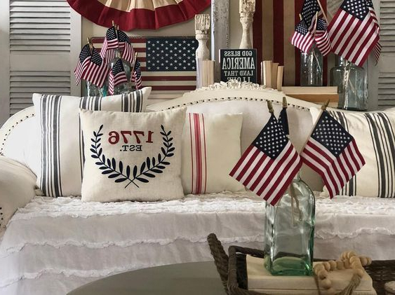 Patriotic Decorating Inspiration How To Add Patriotic