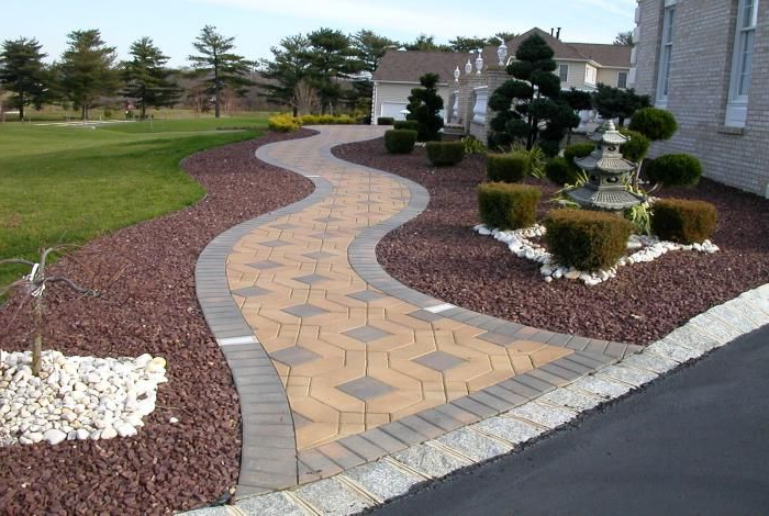 Pictures Of Paver Walkways Up To Front Doors Front Yard