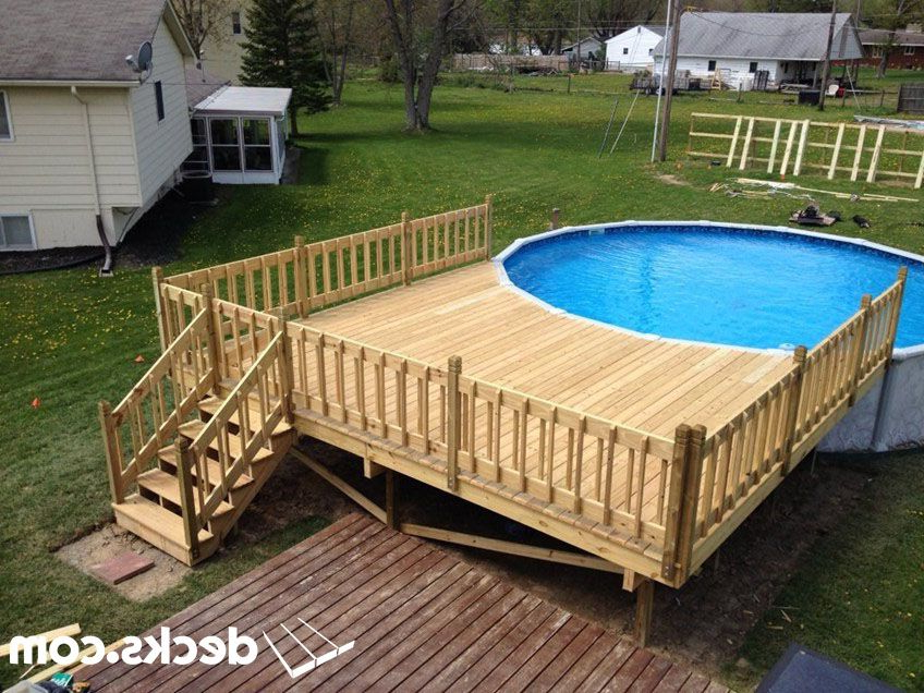 Pool Deck Pressure Treated Pine Wood Rail Swimming