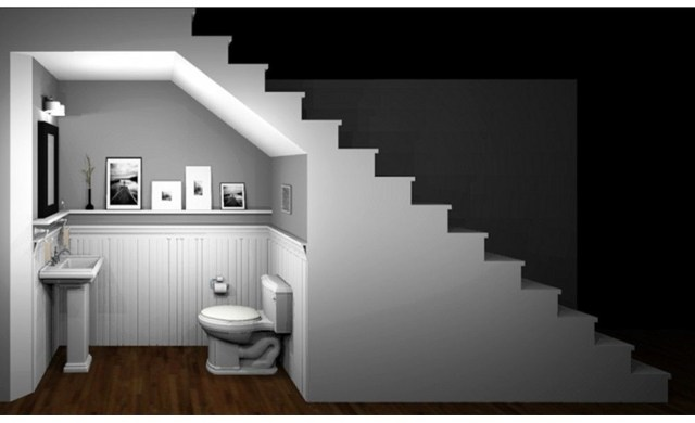 Powder Room Under Stairs For The Basement Would We Have