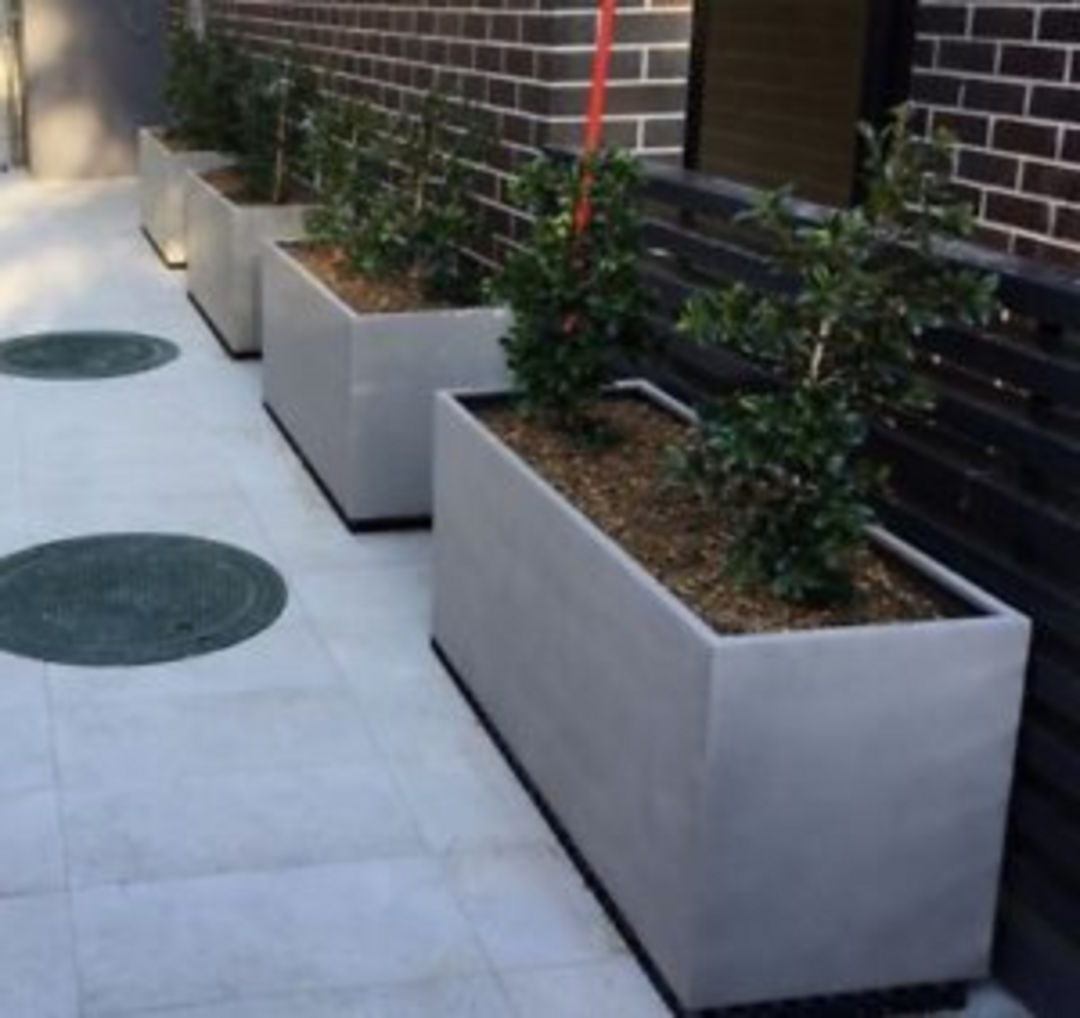 Rectangular Concrete Garden Boxes Design Diy Concrete