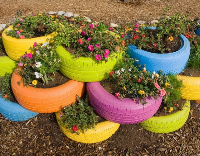 Recycled Tires For Garden Planterskids Could Have Their