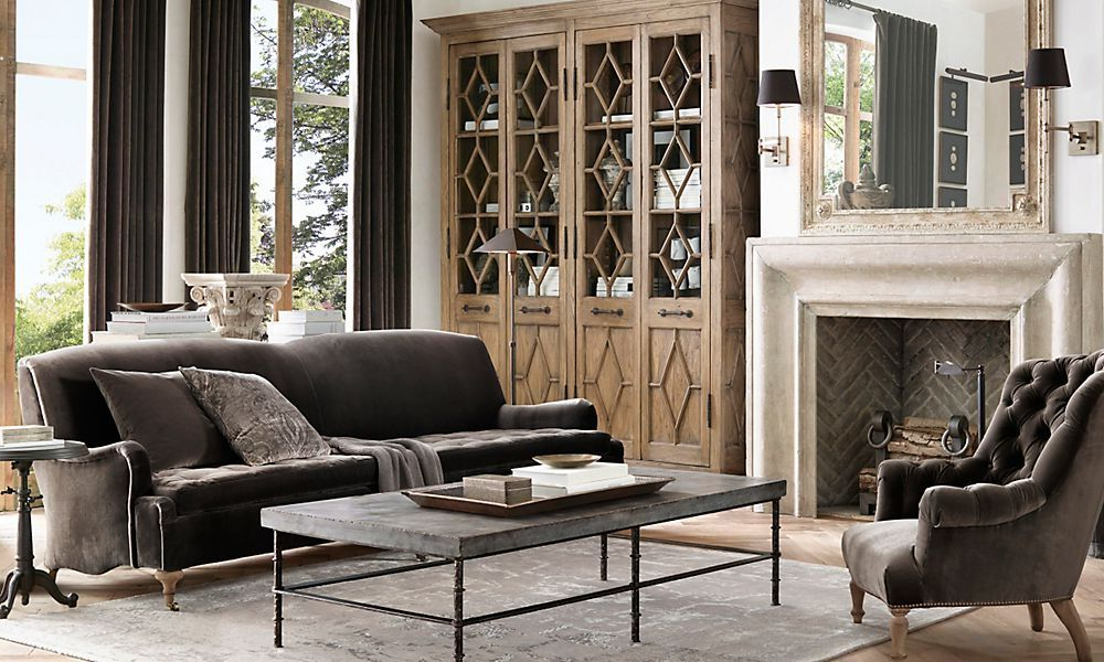 Rooms Restoration Hardware Simple But Elegant Decor
