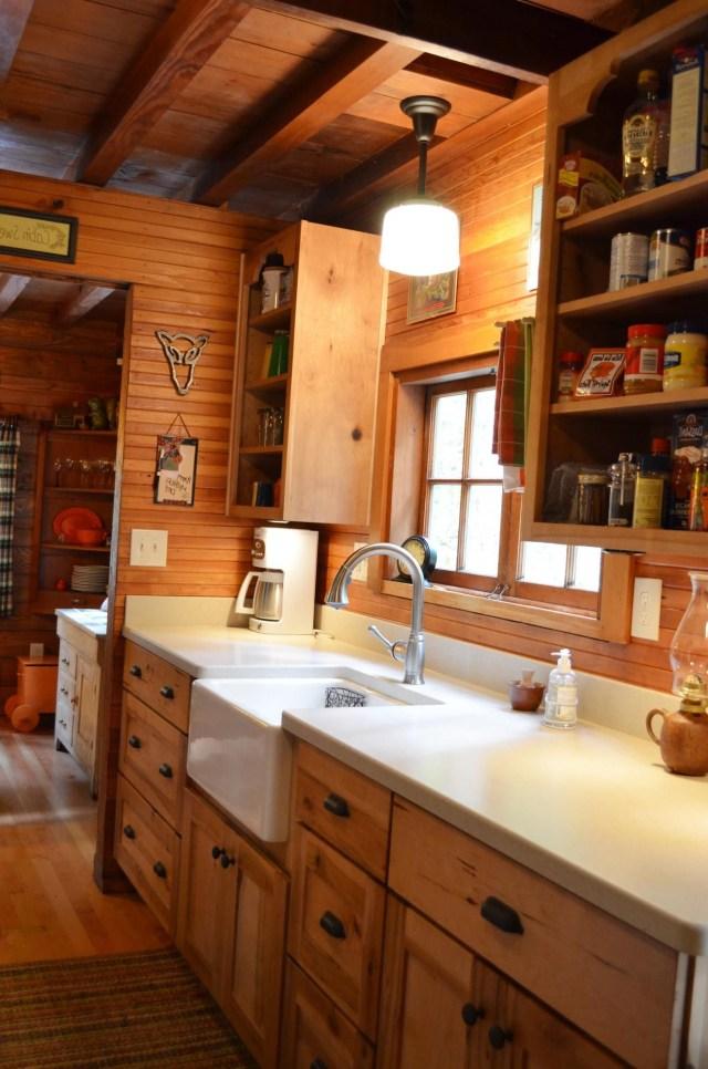 Rustic Cabin Galley Kitchen Cultivate Rustic