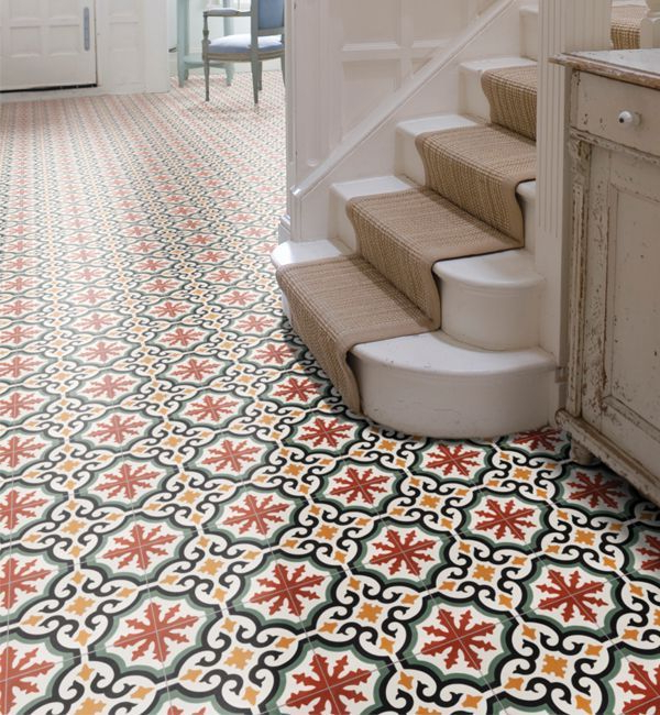 Salisbury Encaustic Pattern Tile Colourful Encaustic