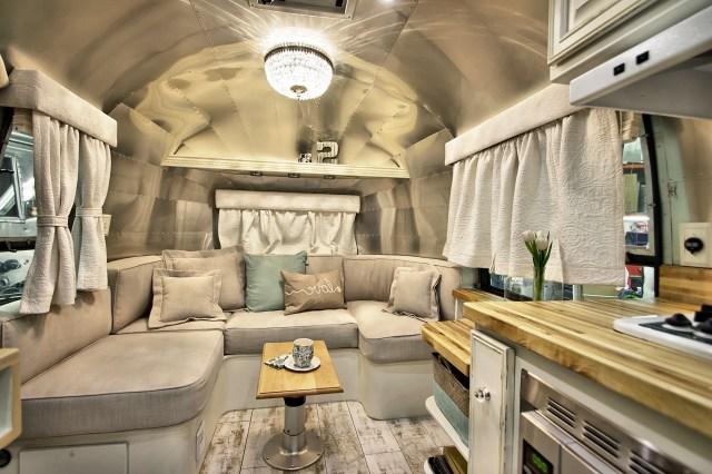 Shab Chic Airstream Airstream Interior Camper