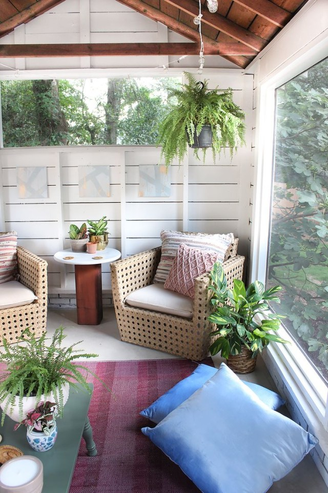 Shed Turned Boho Screened Porch Screened Porch Designs