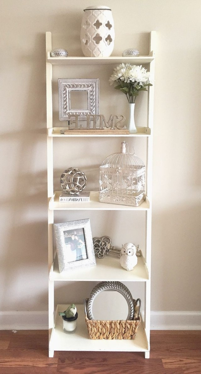 Shelf Decor Whites Neutrals Adds Dimension And Life To