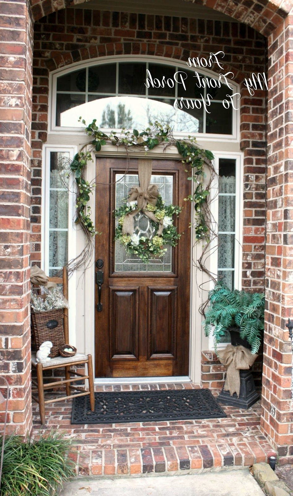 Simple Spring Front Porch Porch Decorating Small Front