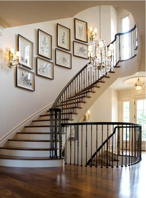 Slightly Curved And Oh So Wonderful Staircase Decor