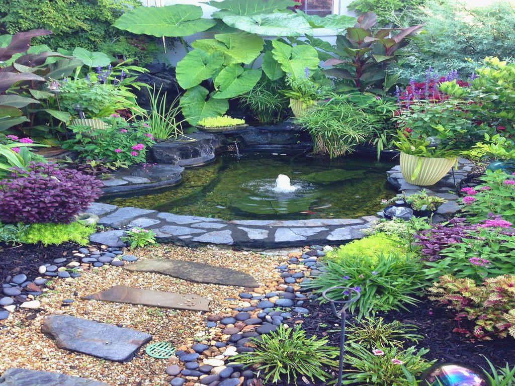 Small Patio Pond Tiny Very Garden Ideas Medium Front Yard