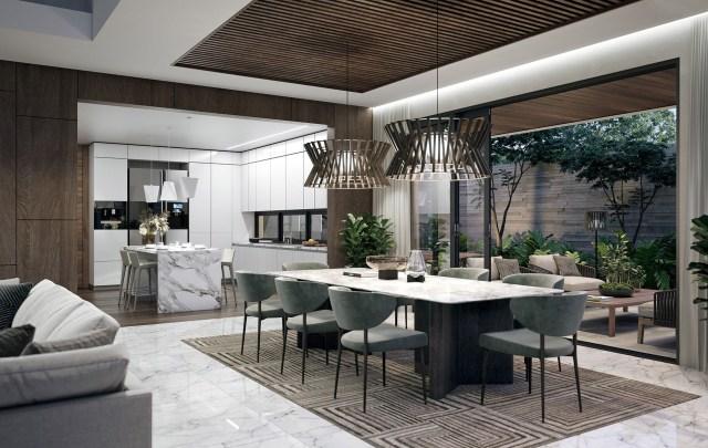 Soho 3 Residence On Behance Luxury Dining Room Luxury